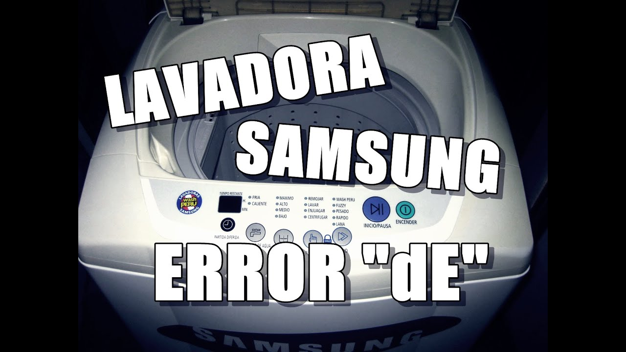 Lavadora samsung error de youtube for Fotos de lavadoras