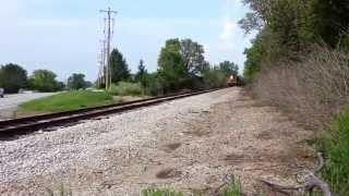 Indiana State Fair Train with Doppler Effect EMD GP7 F7