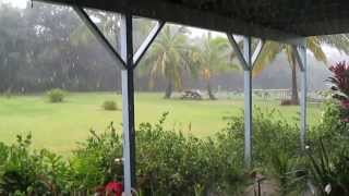 Torrential Rain on Kauai in the Hawaiian Islands