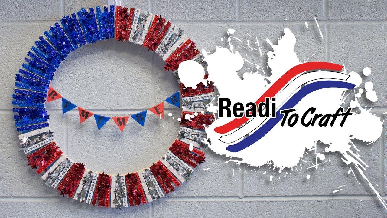 Readi to Craft: Patriotic Clothespin Wreath