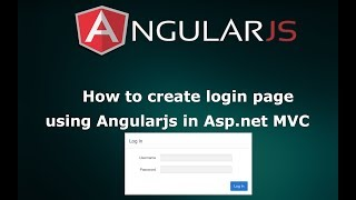 how to create login page using angular js in asp net mvc