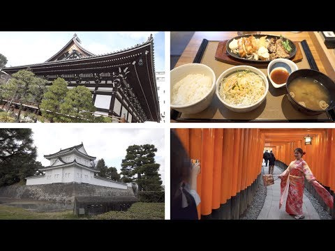 Japan, Day 9.1, Kyoto - Honnō-ji 本能寺, Yayoi Teishoku, Nijō Castle 二条城, Fushimi Inari Taisha [4K]