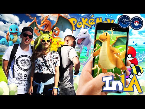 POKEMON VANGEN IN LOS ANGELES! The Place to catch them all - Pokémon GO (VLOG)