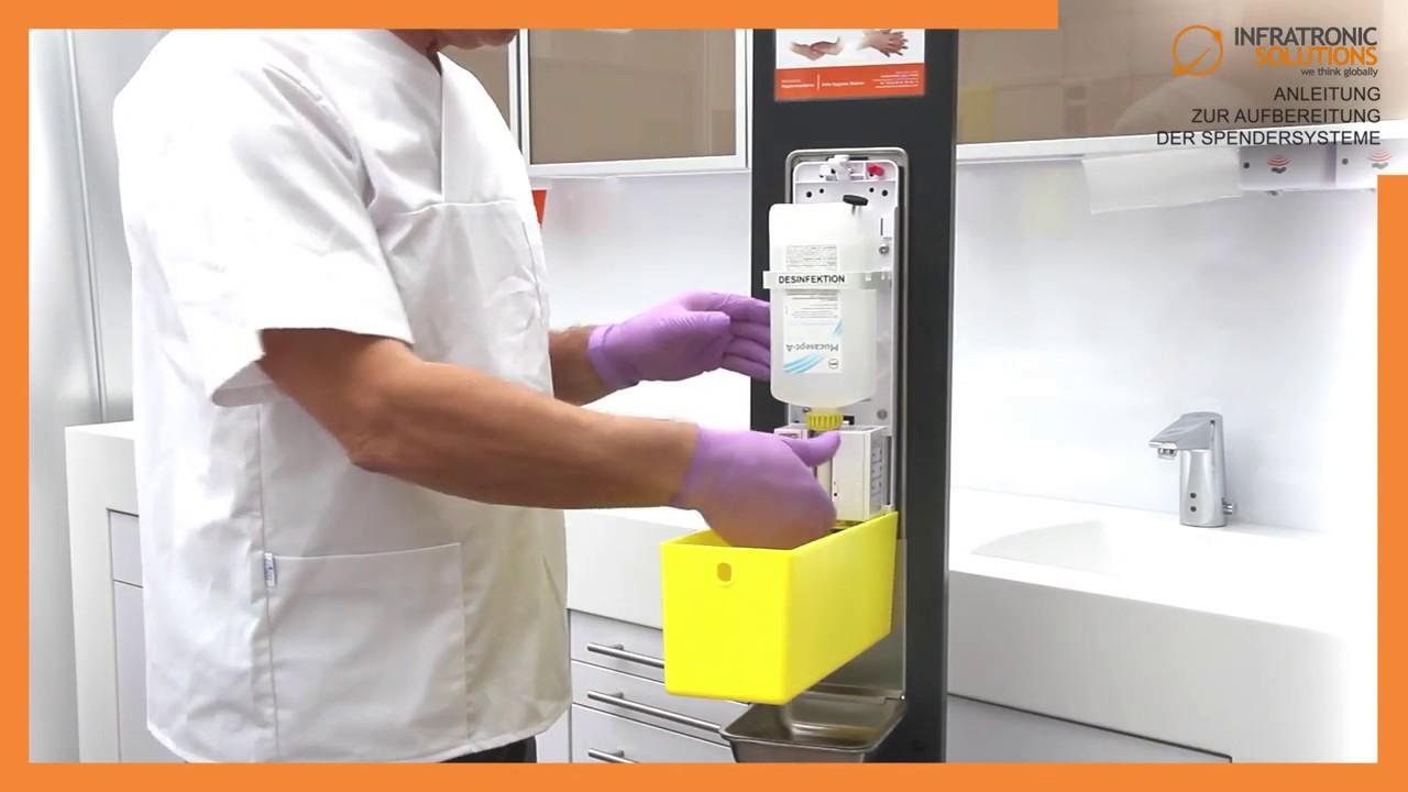 Ks Medizintechnik Infratronic Solutions Infra Hygiene Station