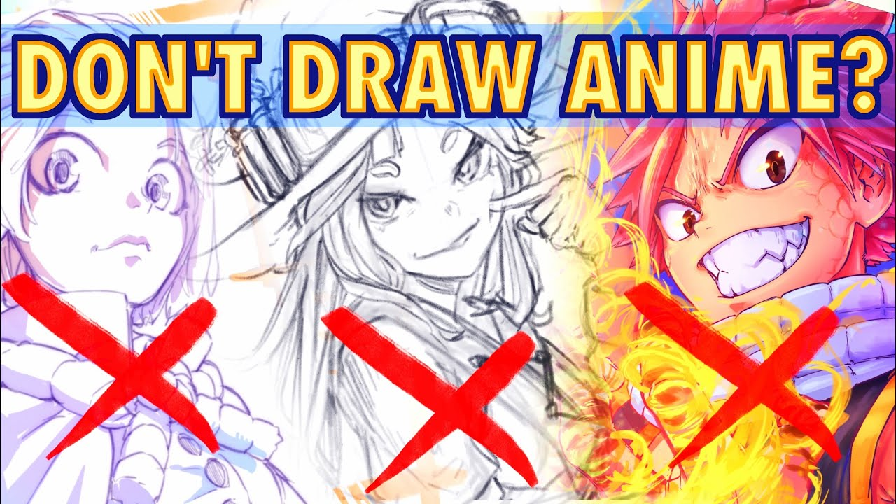 Is Drawing Anime Bad And Why Anime Manga Sketch Youtube