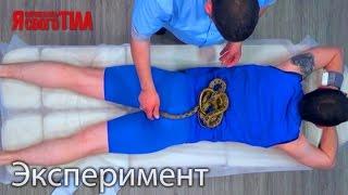 Валерий Ославский согласился на змеиный массаж - Я соромлюсь свого тіла