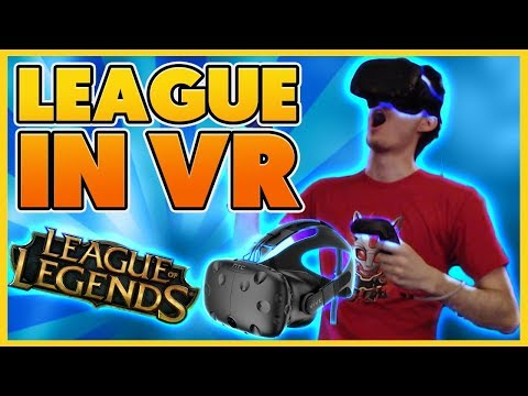 *MY CRAZIEST VIDEO YET* LEAGUE IN VIRTUAL REALITY (RIDICULOUS) - BunnyFuFuu