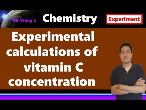 How to do titration calculations of vitamin C with iodine for IB