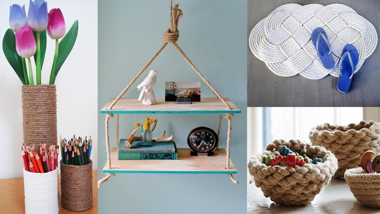 50 Rope Decor Ideas Diy Craft Projects For The Home With