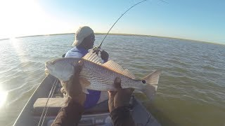 Drift Fishing For Redfish & Speckled Trout in Galveston Bay, Texas