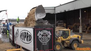 4K| Volvo L120H Loading Scania R580 6X2 With Wood Chips