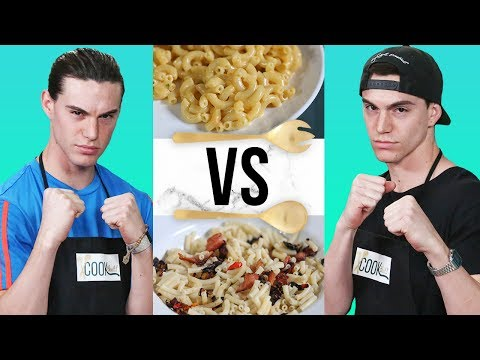 MAC N CHEESE CHALLENGE?! | COOK THAT w/ Esparza Twins