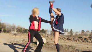 Repeat youtube video Muay Thai Girl vs Crazy Boxing Girl | Fighting Game Style Fight Scene