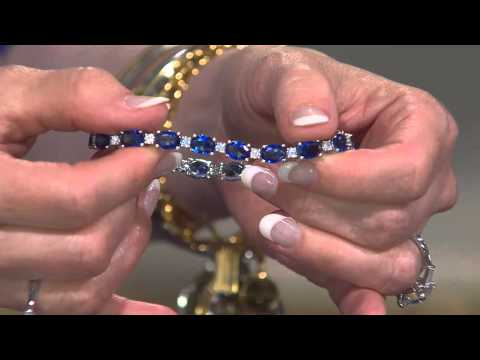 Elizabeth Taylor Simulated Sapphire Tennis Bracelet with Mary Beth Roe