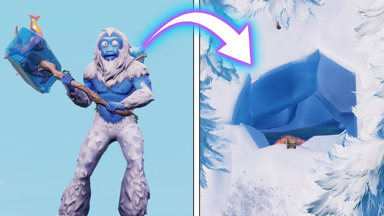 La Cueva Secreta Del Yeti Fortnite Battle Royale Luzu Youtube