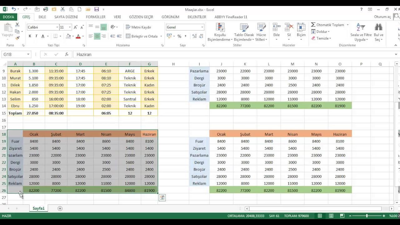 Excel Dersleri - Bul ve Değiştir