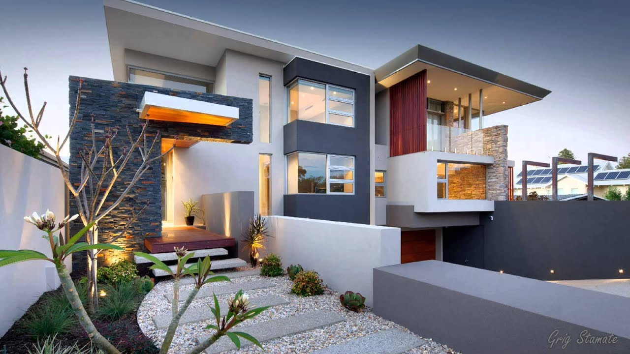 Contemporary House Designs Exterior Ideas - YouTube