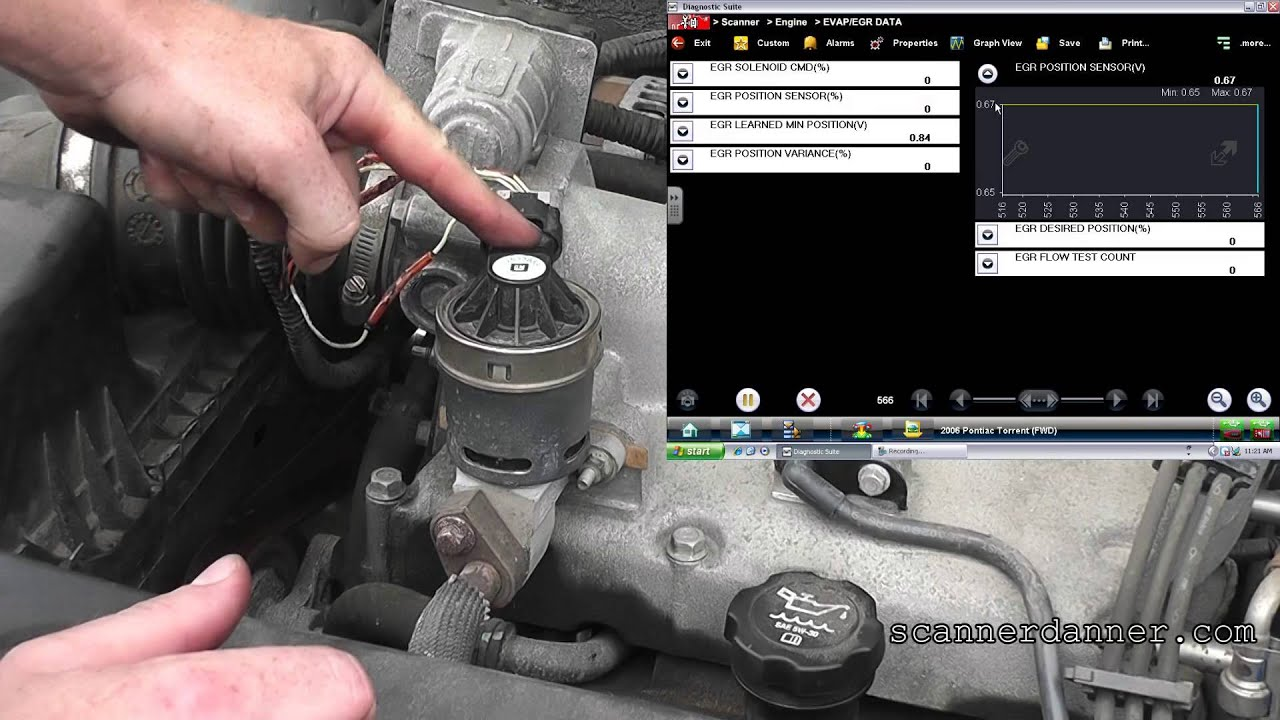 pontiac torrent  stalling  o2 and egr codes
