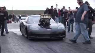 BAD ASS Blown Hemi CORVETTE on Radial Tires!