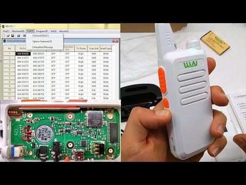WLN KD-C1 zastone ZT-X6 Retevis RT22 review + Disassembly + programming