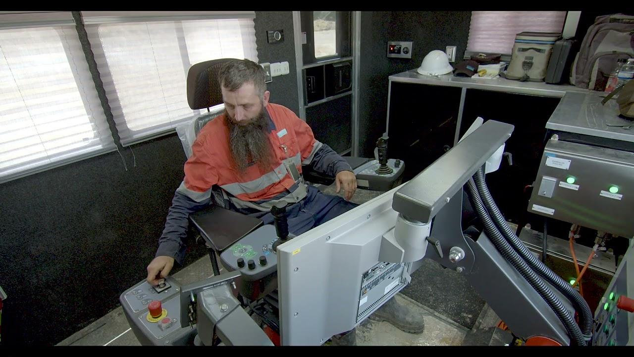 Sandvik DR410i Rotary drill rig - Remote Operation