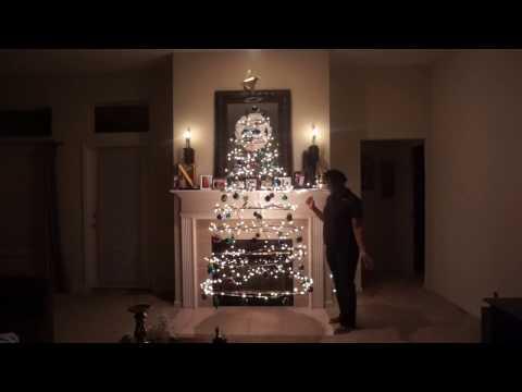 D.I.Y. Floating Cardboard Christmas Tree