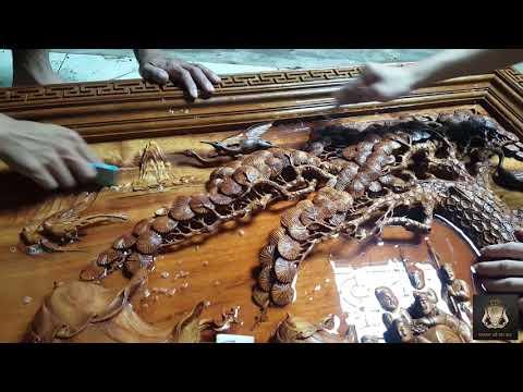 Kỹ Thuật Đánh Nhám Nước Cho Tranh Gỗ Phẳng Như Gương. Tranh gỗ Bùi Gia