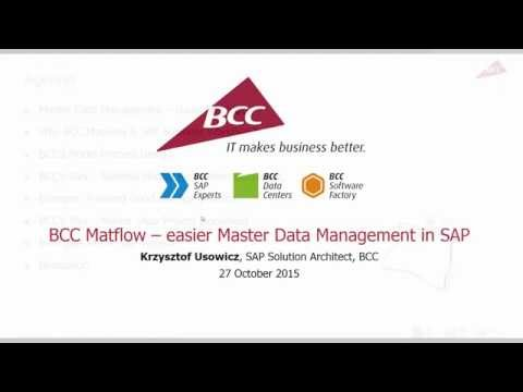BCC Matflow for easier Master Data Management in SAP | SNP