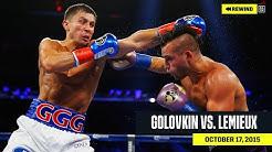 FULL FIGHT | Gennadiy 'GGG' Golovkin vs. David Lemieux (DAZN REWIND)