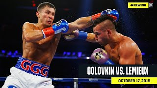 "FULL FIGHT | Gennadiy ""GGG"" Golovkin vs. David Lemieux (DAZN REWIND)"