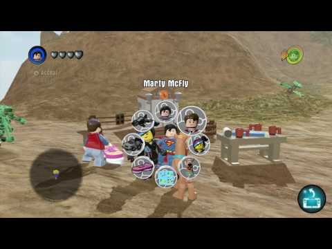 LEGO Dimension Back To The Future 1885 - Free Roam - Free Play - Hillvalley 1955