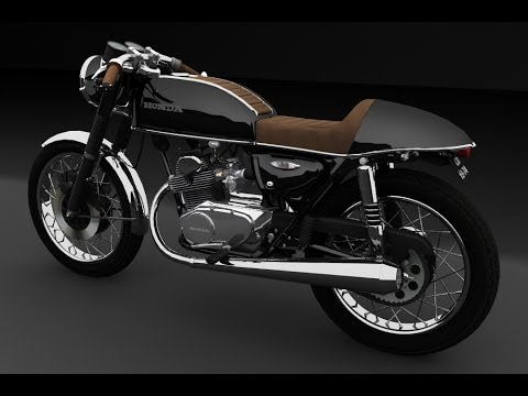 honda cb 125 cafe racer several 3d tests youtube. Black Bedroom Furniture Sets. Home Design Ideas