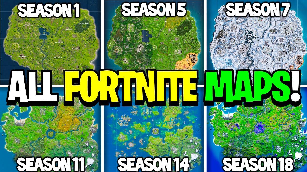 Fortnite Evolution of the Map! (Season 1 - Season 18)