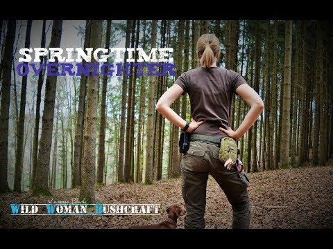 Springtime Overnighter -Wild Woman Bushcraft - Alone in the Wildernes