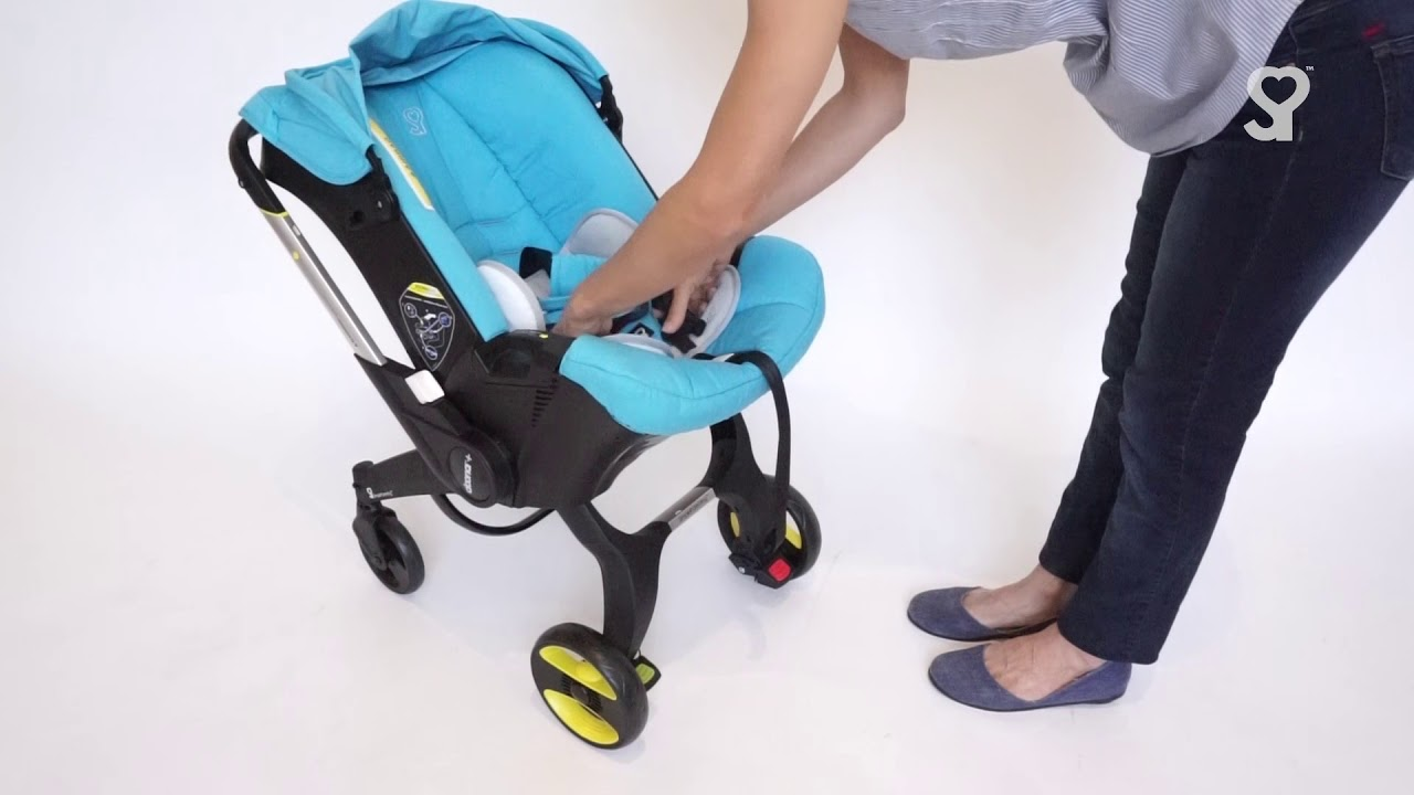 Doona Car Seat (How To Use) - How to Re-fit Infant Insert & Head ...
