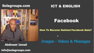 How to Recover Deleted Facebook Data?