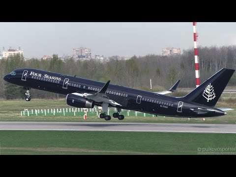 Four Seasons (TAG Aviation UK) VIP Boeing 757-200 | Takeoff from St. Petersburg airport Pulkovo