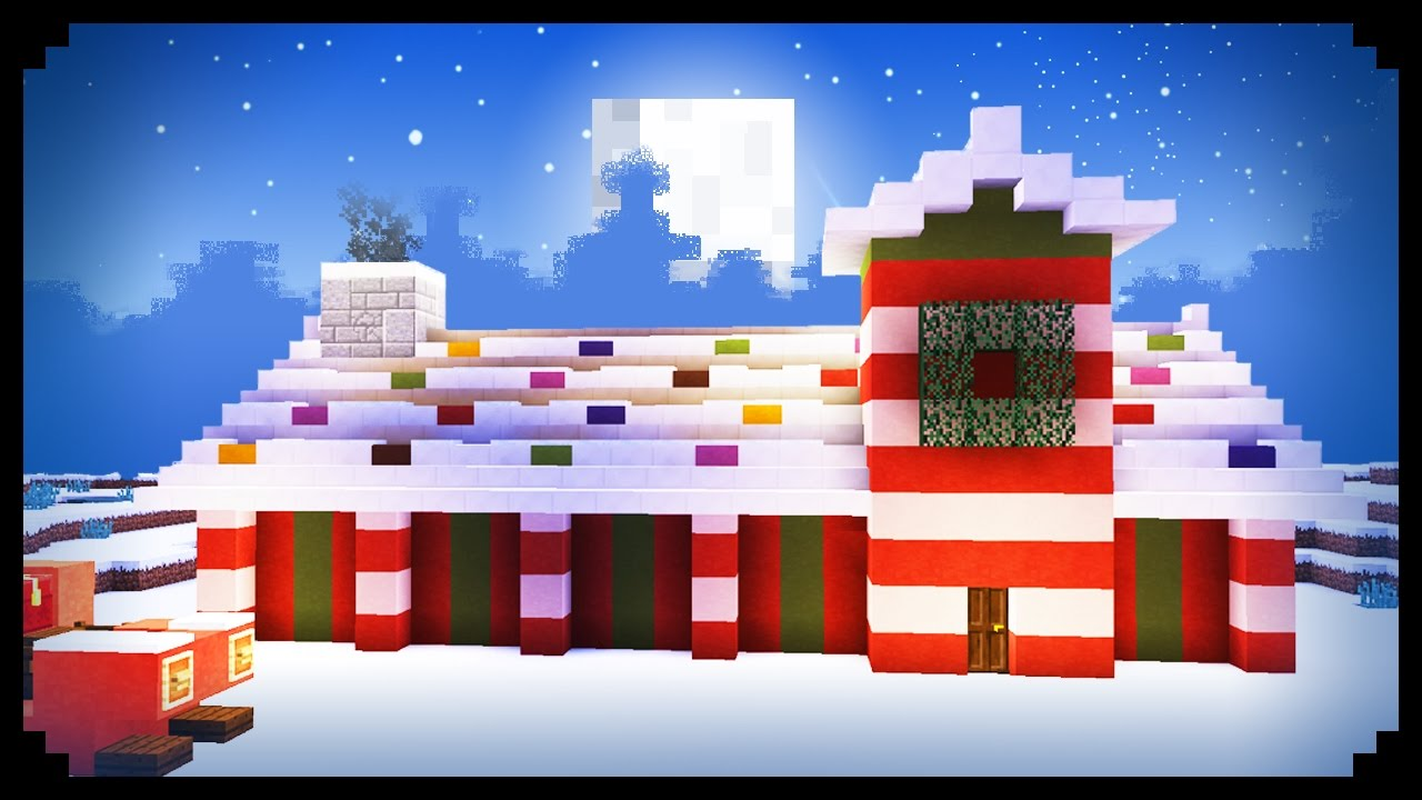Minecraft How To Make Santa S Workshop Youtube