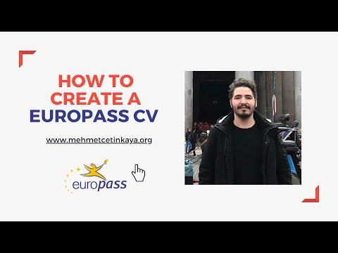 How to create a Europass CV?