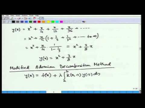 Mod-01 Lec-33 Calculus of Variations and Integral Equations
