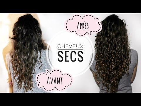 Cheveux Secs  Les bienfaits MIRACLE de l'huile de coco I Soin cheveux très efficace !!