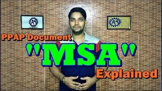 Measurement System Analysis ! MSA !! PPAP Document !!! ASK Mechnology !!!!