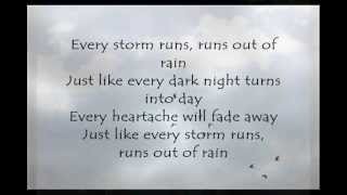 Repeat youtube video Every Storm (Runs out of Rain); Gary Allan [ON-SCREEN LYRICS]
