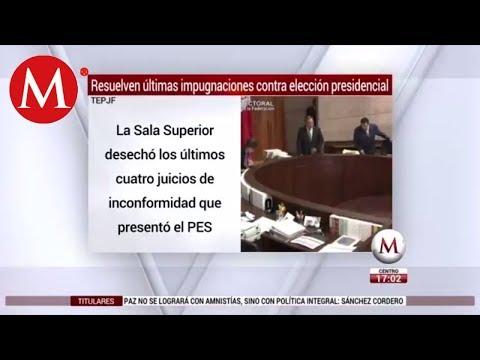 TEPJF desecha últimas impugnaciones en elección presidencial