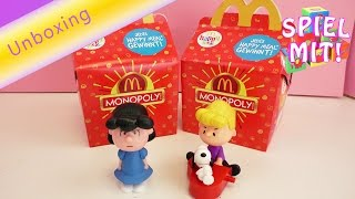 Happy Meal Unboxing Peanuts Januar 2016 - Lucy, Schröder und Snoopy Spielzeuge