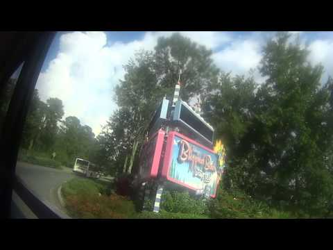 Disney World 2015 Bus ride from Animal Kingdom to Saratoga Springs