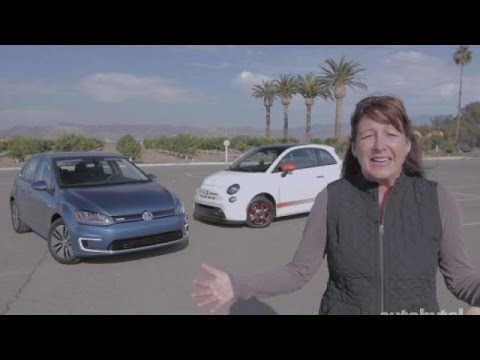 Electric Car Comparison Test Video - FIAT 500e vs. Volkswagen e-Golf