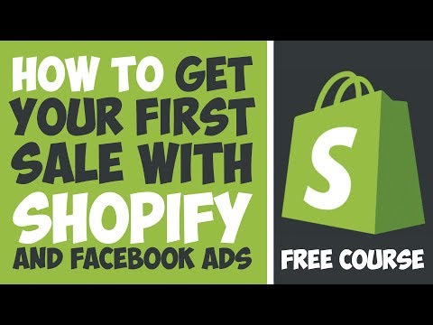 How to Make your First Sale with Shopify and Facebook Ads - Ezra Firestone