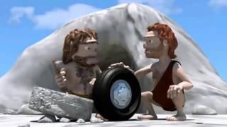 Очень смешной Мультик про каменный век  Прикольные мультфильмы