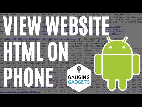 How To View Website Page Source From Phone - Android - HTML